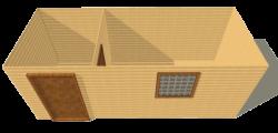 Бытовка деревянная